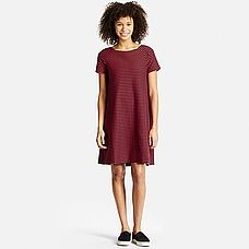 WOMEN Jacquard Short Sleeve Dress