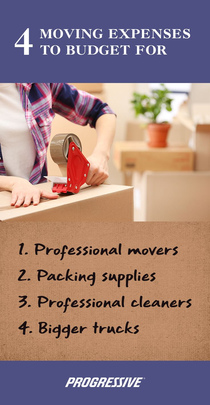 4 Moving Expenses to Budget for