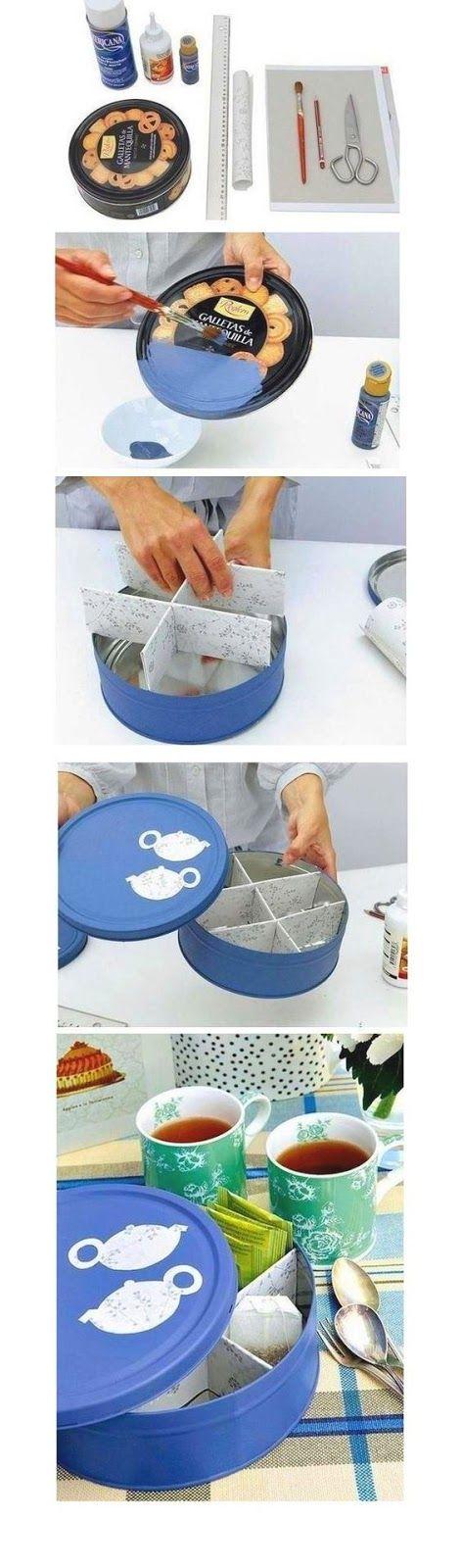 Reciclar una caja de galletas