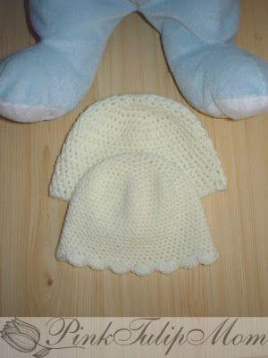 PinkTulipMom - Mosolyra horgol...: Sapkák koraszülött babáknak