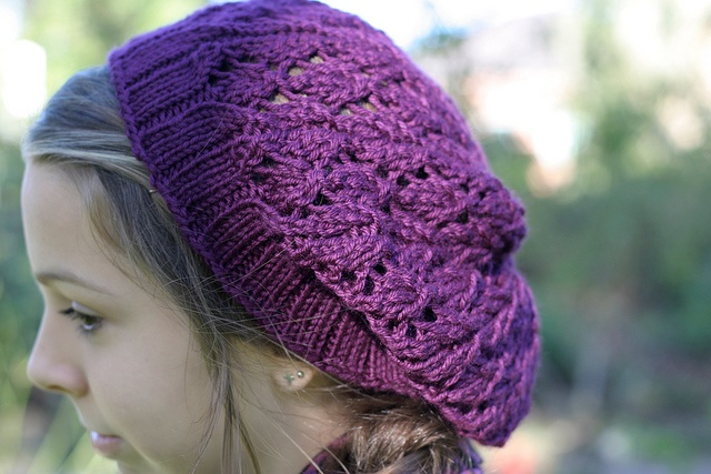 Pasha by Jane Richmond ... This was knit for Kayla, the colour is stunning!