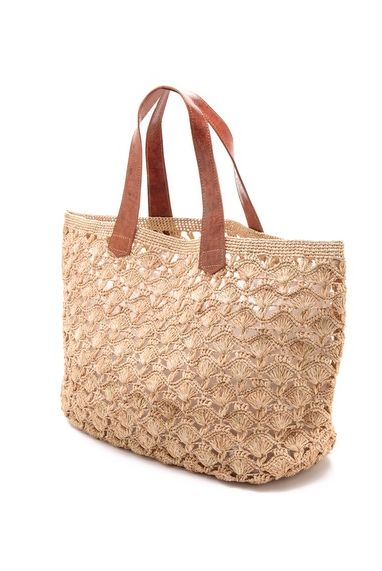 Mar y Sol Valencia Crocheted Beach Tote in Natural at Pesca Boutique. - Price: $98.00