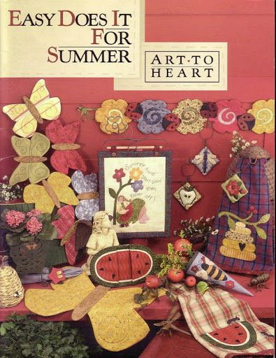 DIy Art to Heart - Easy Does It For Summer + 16 MAGAZINEs OF ART TO HEART FOR HOME AND HOLIDAYS!!!