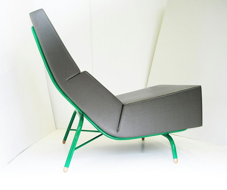 fold chair     TOM FRENCKEN     this PU-coated foam seat clamps to the steel frame because it wants to unfold.
