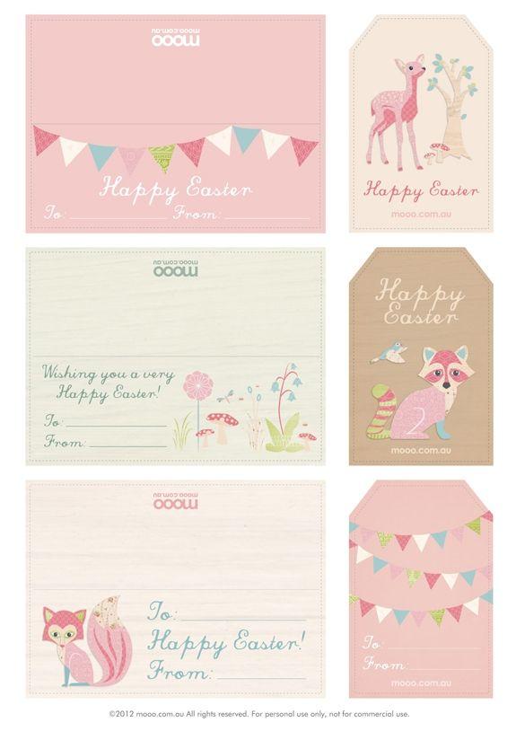 ~Leuke Paas-thema kaartjes om uit te printen~