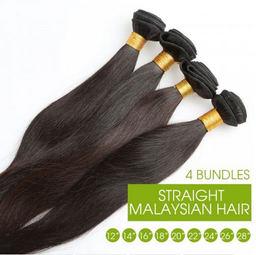 Hot Queen Straight Malaysian Hair Extensions 4 Bundles/lot Mixed Length 12-28inch 5A Unprocessed