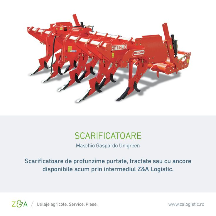 Îți punem la dispoziție scarificatoare Maschio Gaspardo la cel mai bun preț de pe piață! În plus, pentru fiecare utilaj Maschio Gaspardo achiziționat prin Z&A Logistic beneficiezi și de un discount!