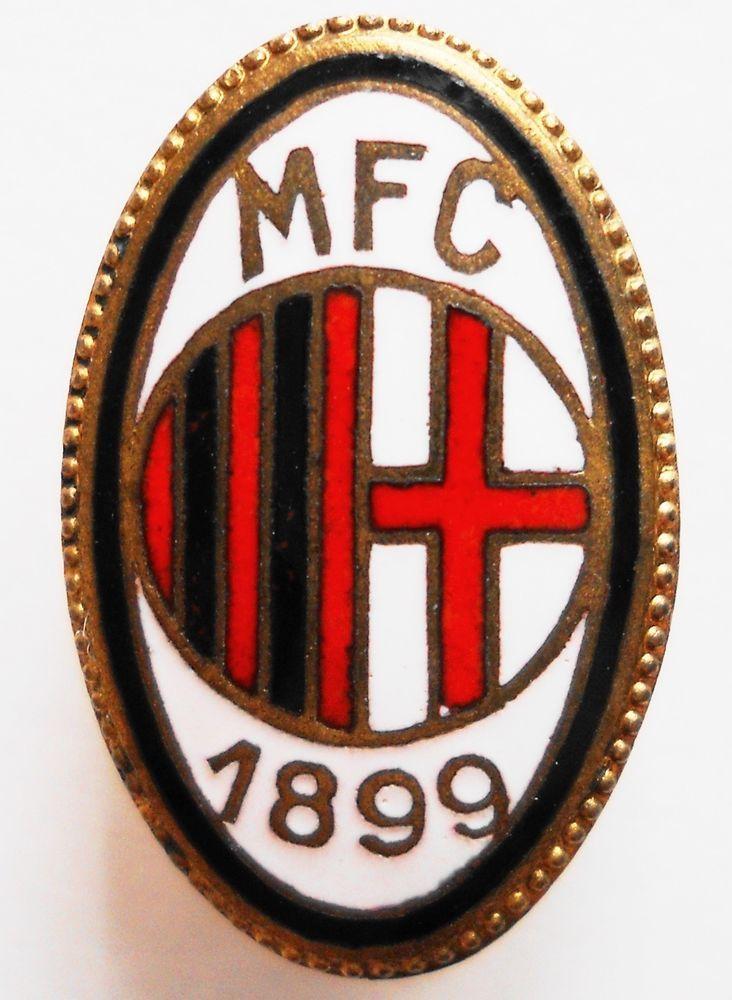DISTINTIVO CALCIO-MFC 1899-ANNI 20 PIEDINO Marcato GEROSA ORIGINALE GRANDE-RARO*