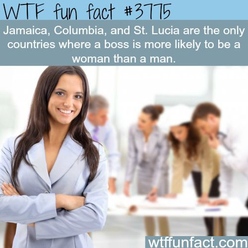 The only countries where there are more female bosses than male - WTF fun facts