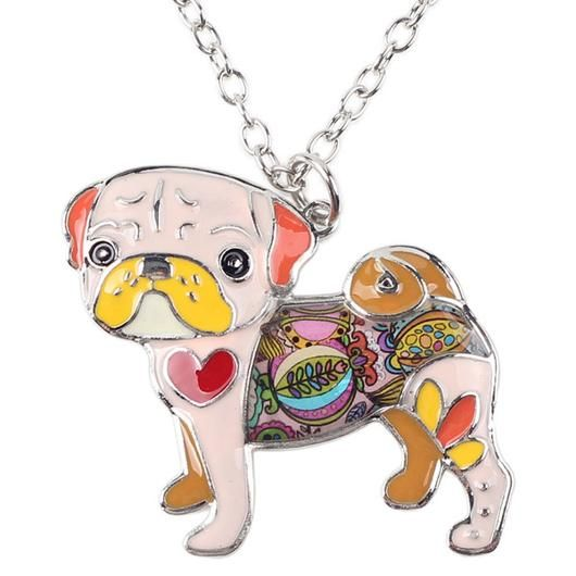 Pug Necklace - Square Berry Co