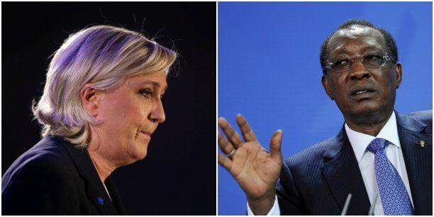 La candidate du Front national à la prochaine élection présidentielle française effectue une visite de deux jours au Tchad sur fonds de polémique et de critiques de l'opposition tchadienne. Au programme, une visite aux militaires de la force Barkhane mais aussi et surtout des entretiens officiels avec les autorités du pays au premier rang desquelles le président Idriss Déby Itno. En pleine campagne électorale française, Marine Le Pen dévoilera à N'Djamena, sa politique africaine, qui rest...