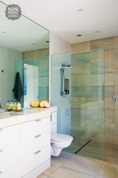 Big Stone Tiles And Hidden Cistern. Sleek And Timeless Part 20
