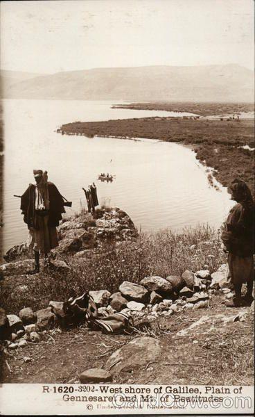Gennesaret West Shore of Galilee, Plain of Gennesaret and Mount of the Beatitudes