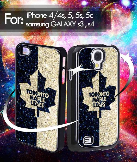 Toronto Maple Leafs NHL logo glitter for iphone 4 iphone by Locusz, $14.50