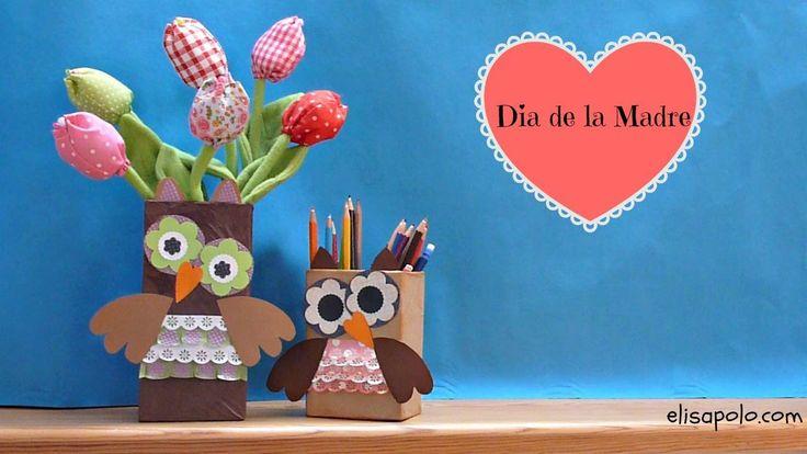 DIY, Cute Owl Crafts, Ideas para el Día de la Madre, Ideas para el Día d...