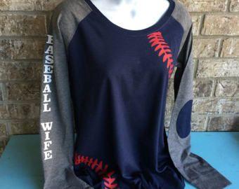 Baseball Laces Long Sleeve Shirt, baseball wife shirt, baseball girlfriend shirt, Long Sleeve preppy Tee, Customize the sleeves