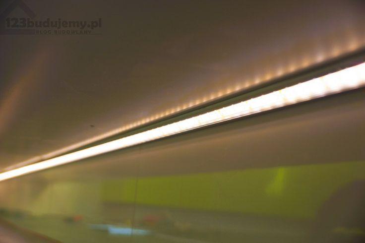 profil narożny do taśmy led, montaż pod szafkami #podświetlenie led #design