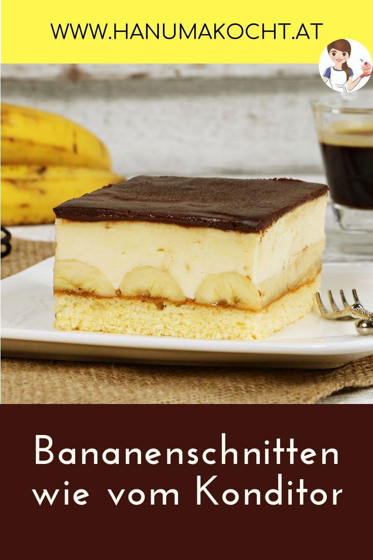 Bananenschnitten wie vom Konditor   Bananenkuchen rezepte