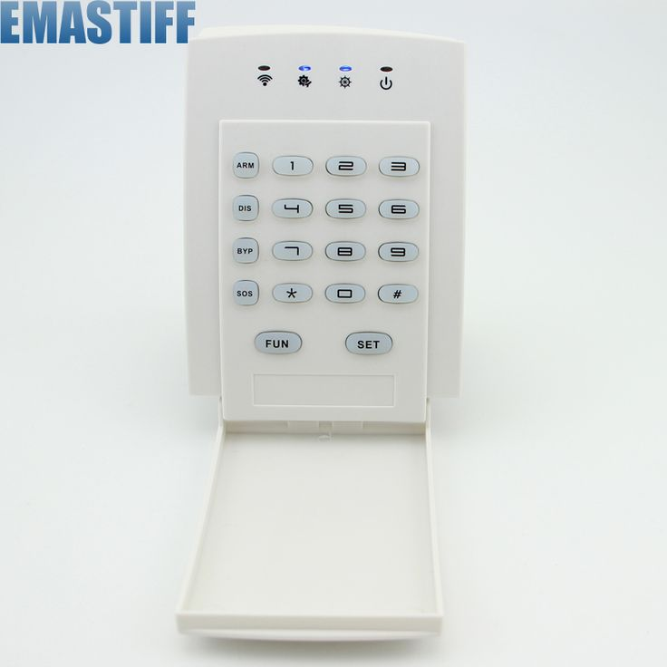 World-Guard  Wireless Password Keypad Keyboard Remote Controller For Home Alarm System 433MHz
