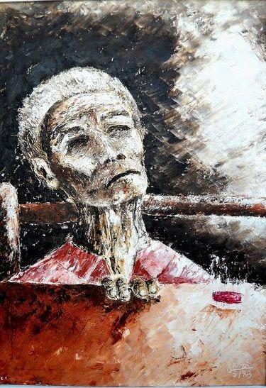 Catawiki, pagina di aste on line   GRossi (Giuliano Rossi) - Il peso della vita