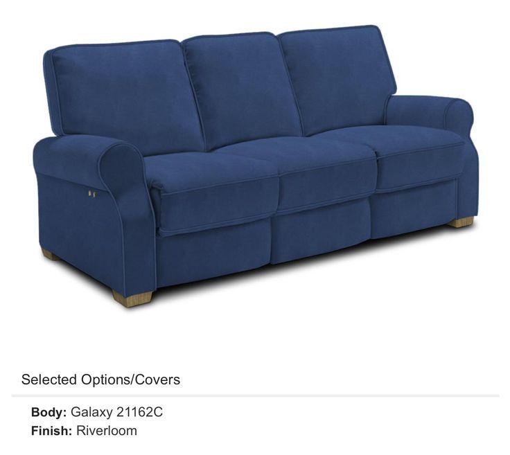 """Best Home Furnishings """"Hattie""""stylish reclining sofa in blue aka Galaxy"""