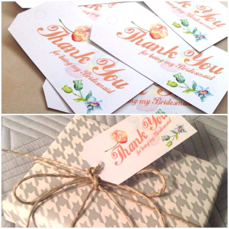 FREEBIE FRIDAY: printable bridesmaids thank you tags