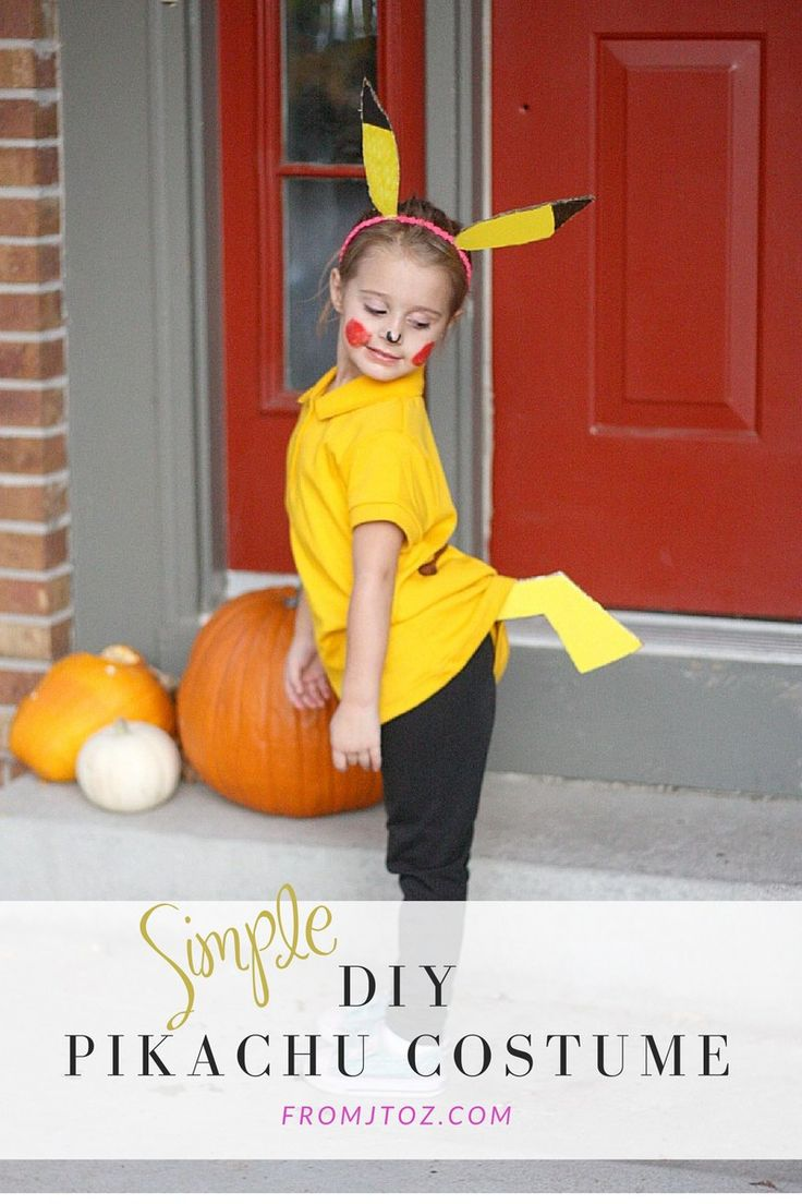 Simple DIY Pikachu Costume - From J to Z