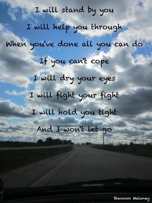 Rascal Flatts...I Won't Let Go ♥ i promise to always hold on to you.