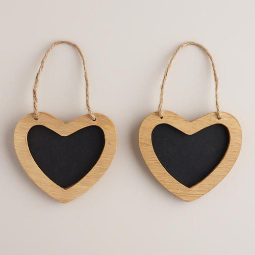 One of my favorite discoveries at WorldMarket.com: Mini Heart Chalkboards, Set of 2