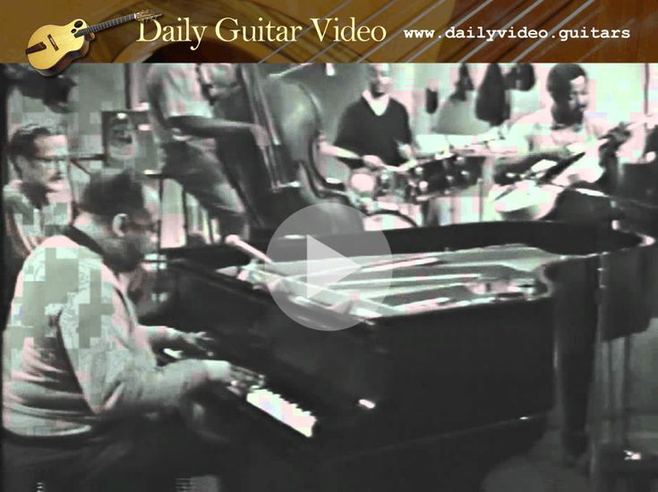 "Count Basie & Freddie Green - http://dailyvideo.guitars/count-basie-freddie-green/ - Freddie Green said ""give each beat its full value."" They calld him ""Father Time."""