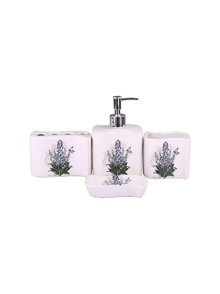 Patricia Набор для ванны 4 предмета: дозатор, подставка для зубных щеток, стакан, мыльница