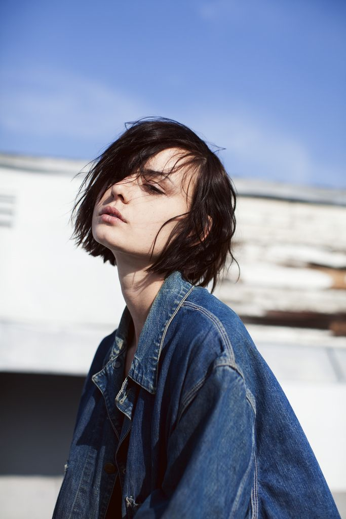 bob hair + jean jacket