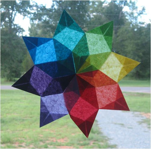 waldorf window star tutorial - starburst - I WILL do stars with the kids this year! I will, I will, I will!