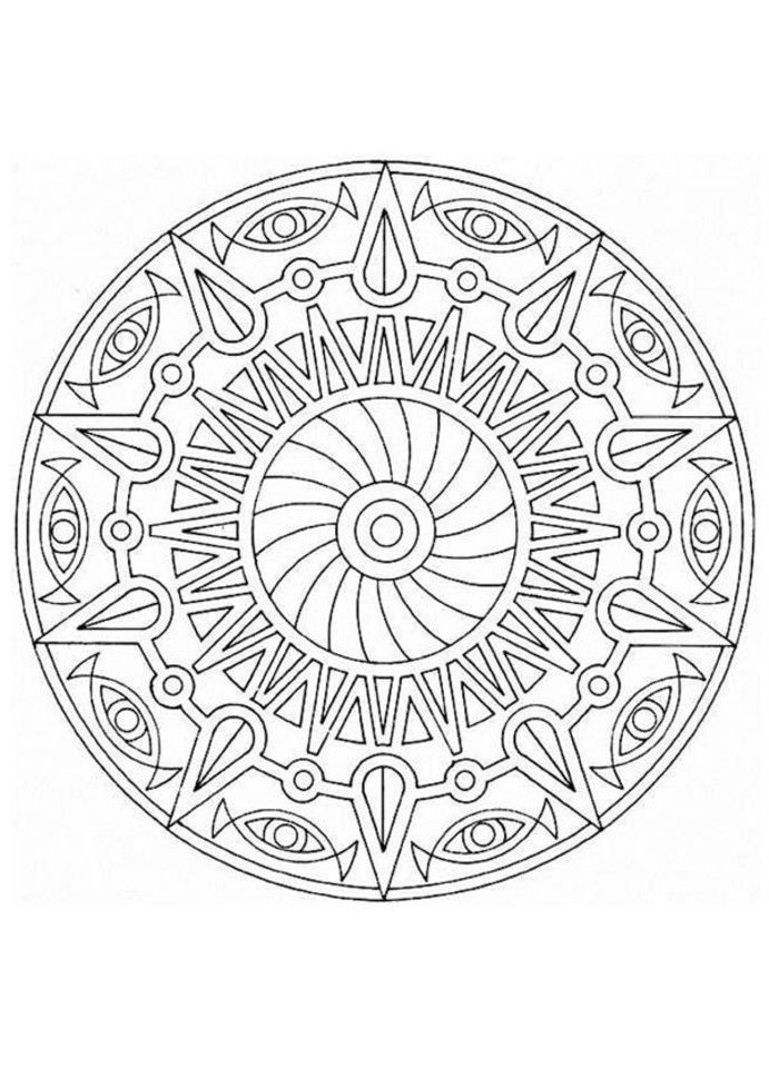 this advanced mandala coloring sheet is a fun design and quite challenging to color mandala coloring page can be decorated online with the