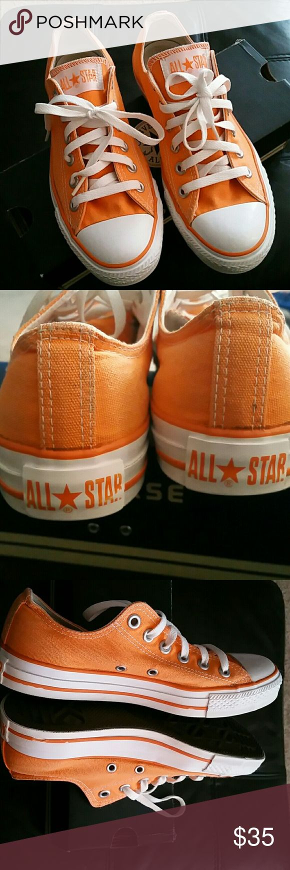 Light Orange Converse, Mens 5 / Women's 7 Light Orange Converse, Men's 5 / Women's 7. Love these shoes but need the next size. Hate to see them go. Hard to find this exact color. Converse Shoes Sneakers