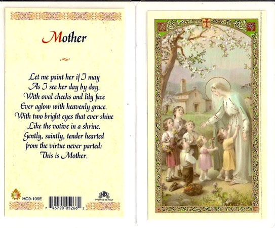 mother prayer card mother 39 s day pinterest prayer cards. Black Bedroom Furniture Sets. Home Design Ideas