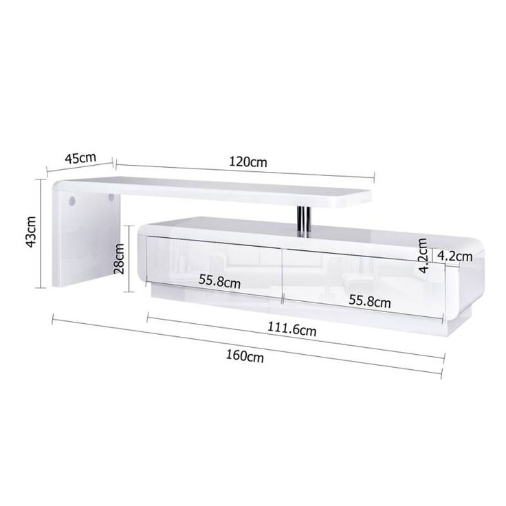 white adjustable modern tv stand entertainment unit buy modern tv units - Beliebt Burokuche Aufbau