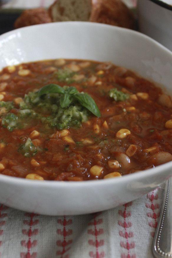 Porotos Granados/Cranberry Beans with Corn and Squash