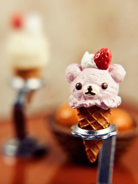 Teddy bear ice cream cone