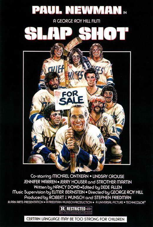 Slap Shot Movie Poster 27 X 40 Paul D Amato Paulman A Licensed