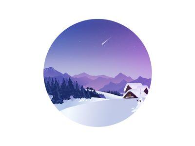 winter snow home