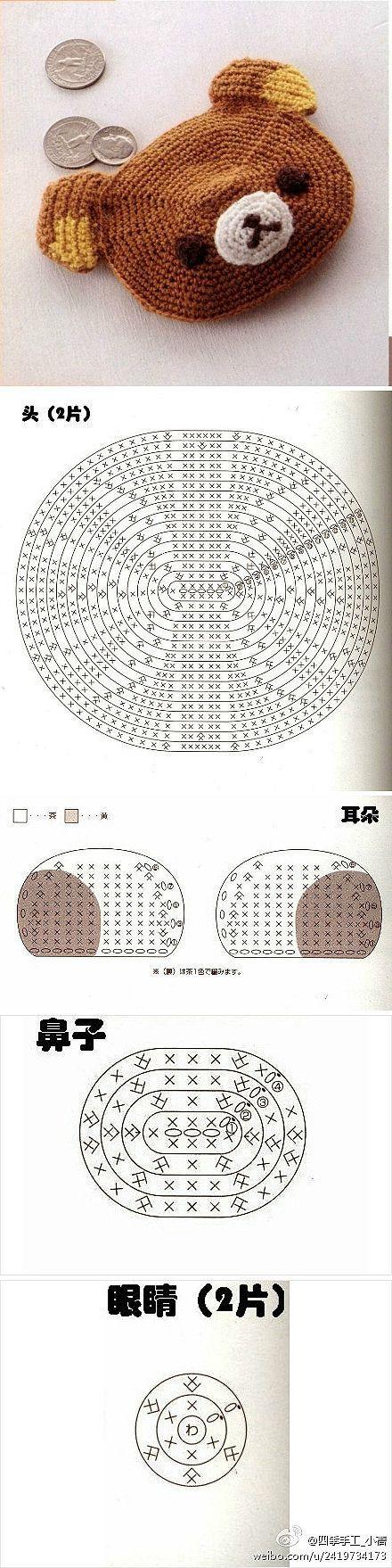 Rilakkuma Coin Purse Crochet Diagram