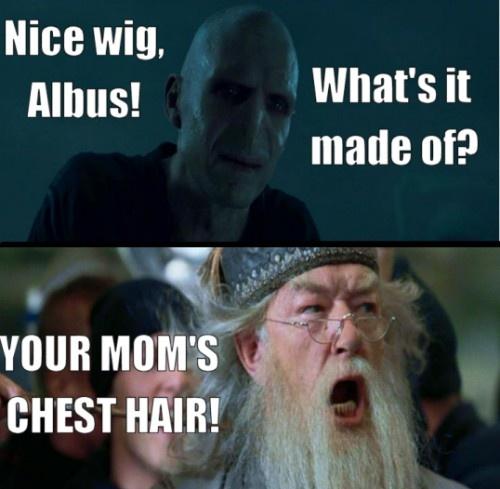 Nice wig, Albus