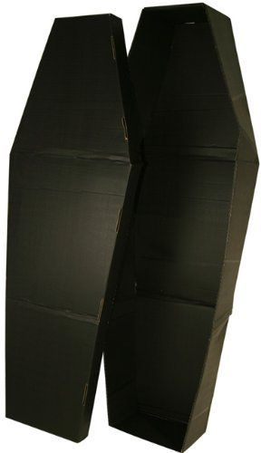 4 halloween coffin prop by bos 2814 easy to store made of - Cardboard Halloween Decorations