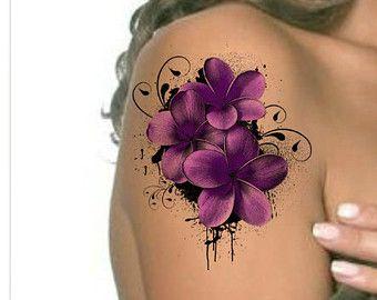 Tatuaggio fiore impermeabile Ultra sottile di UnrealInkShop