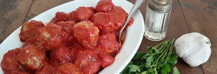 Gehaktballetjes in tomatensaus (polpette di carne al sugo). Gehaktballetjes in tomatensaus, wat kan ik daar meer over zeggen dan dat bijna iedereen die lekker vindt?