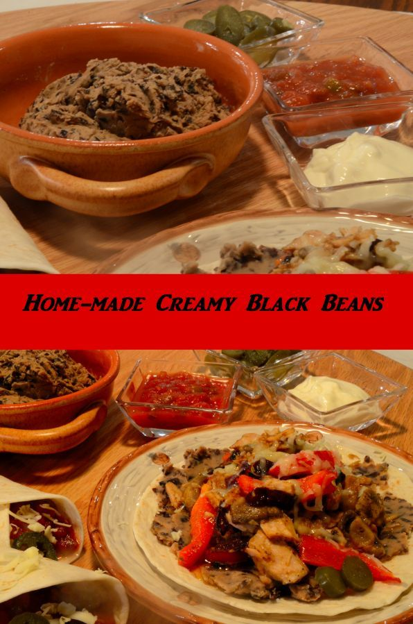 Black  beans, home-made, low fat, high fiber, high protein.  These are so good for you and a pressure cooker makes them a cinch to make.