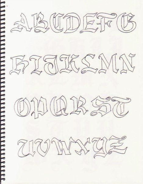 Caligrafía, abecedarios