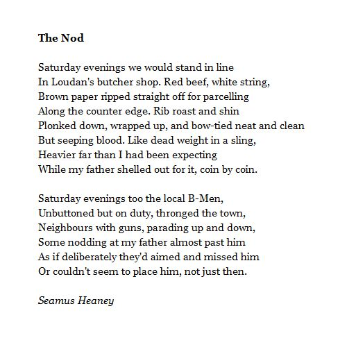 essays on seamus heaney poems Seamus heaney is one of the most famous poets of the modern era, and his field of vision is perhaps one of the most beautiful elegies ever written.