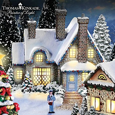 christmas village collections | Thomas Kinkade Christmas Village Collection: Cobblestone Corners With ...